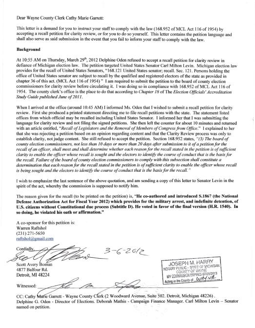 Scotty Boman letter